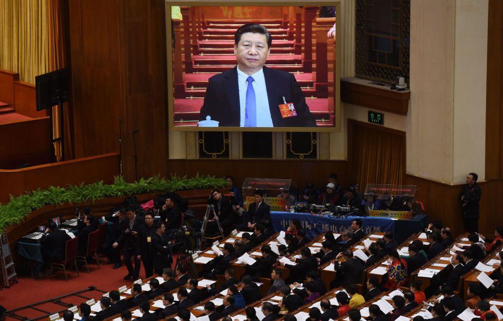 El presidente de China, Xi Jinping, el miércoles durante la segunda sesión plenaria de la Asamblea Nacional Popular, en Pekín.