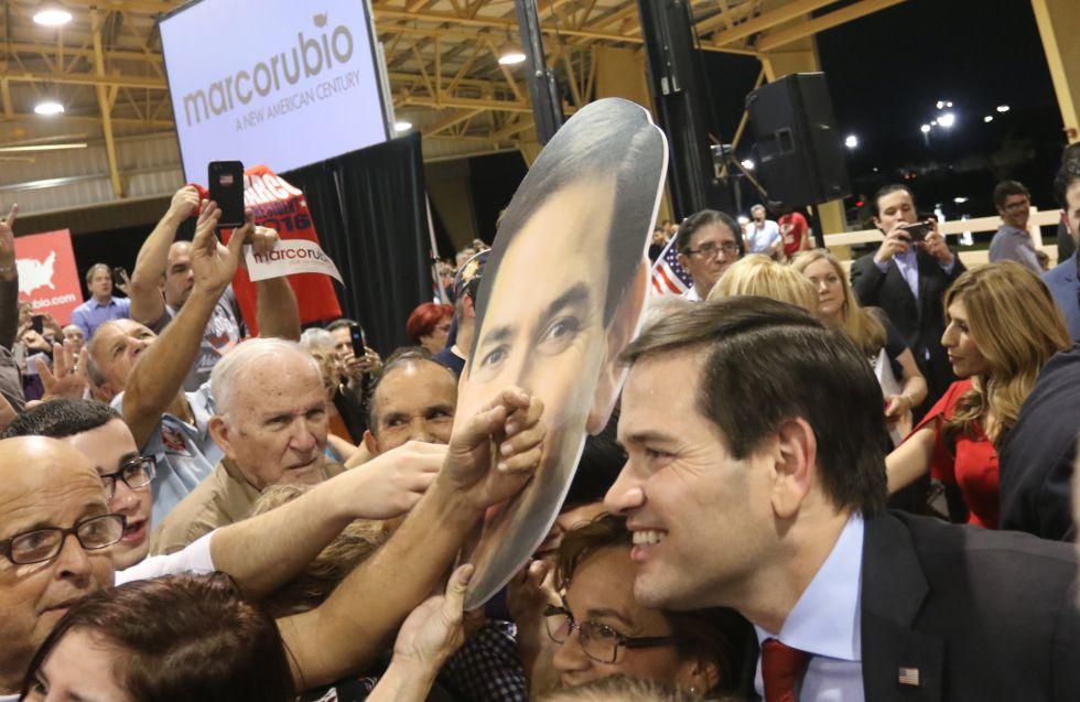 Marco Rubio, en un mitin en Miami.
