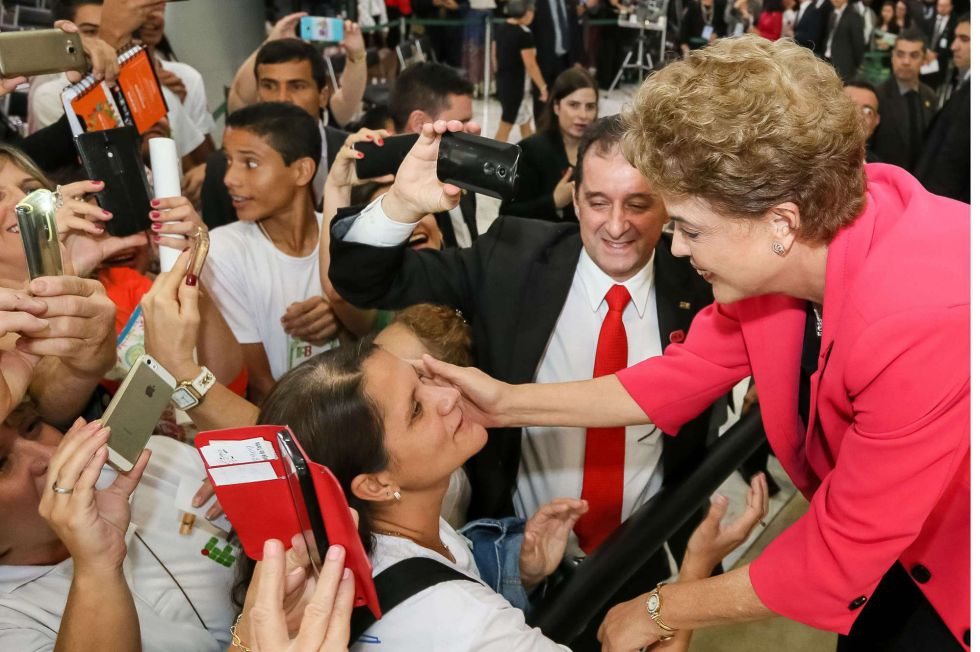 Dilma Rousseff en un acto este 9 de marzo.