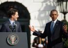 Obama sella su alianza con el Canadá de Trudeau