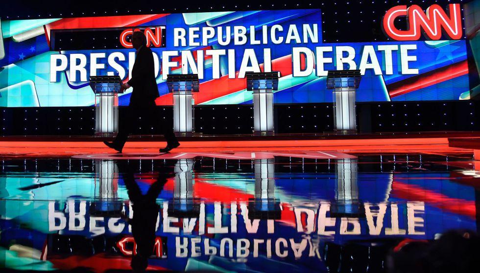 Escenario del debate republicano en Miami, Florida.