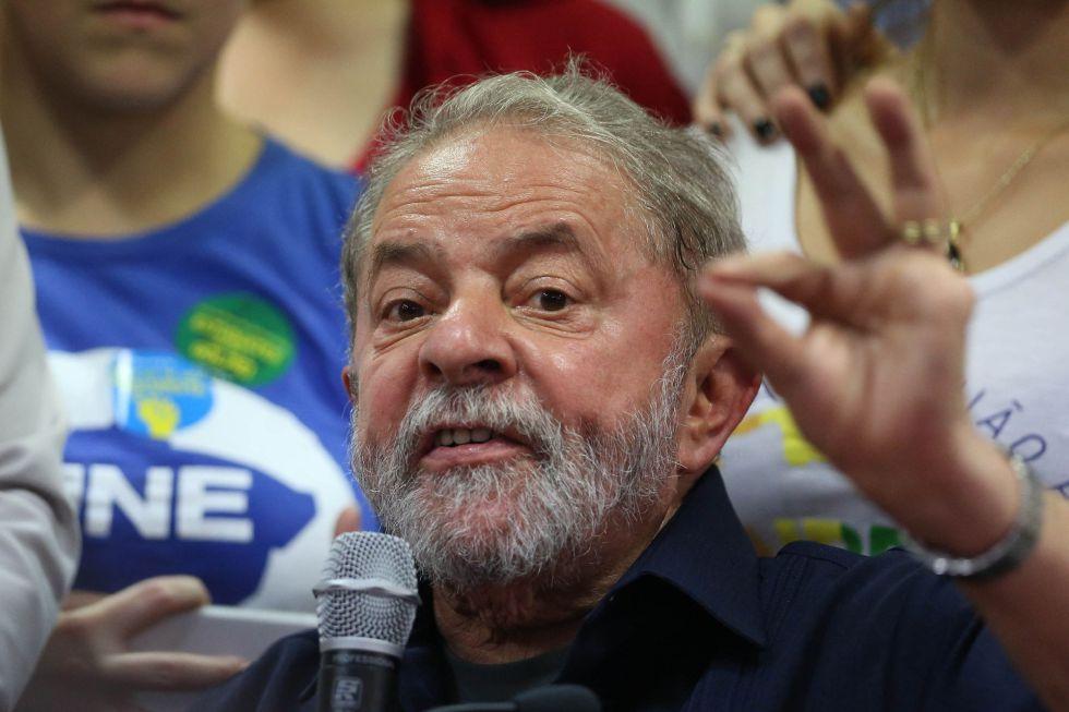 El expresidente Lula el 4 de marzo en Sao Paulo.