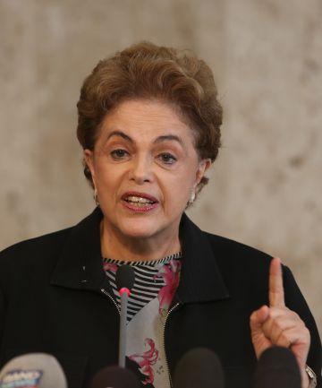 Rousseff, en la rueda de prensa del viernes en Brasilia.