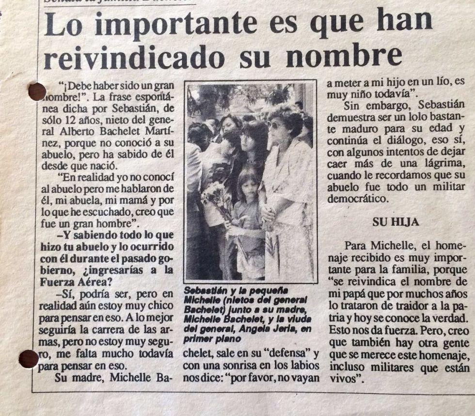 El rito más íntimo de Bachelet