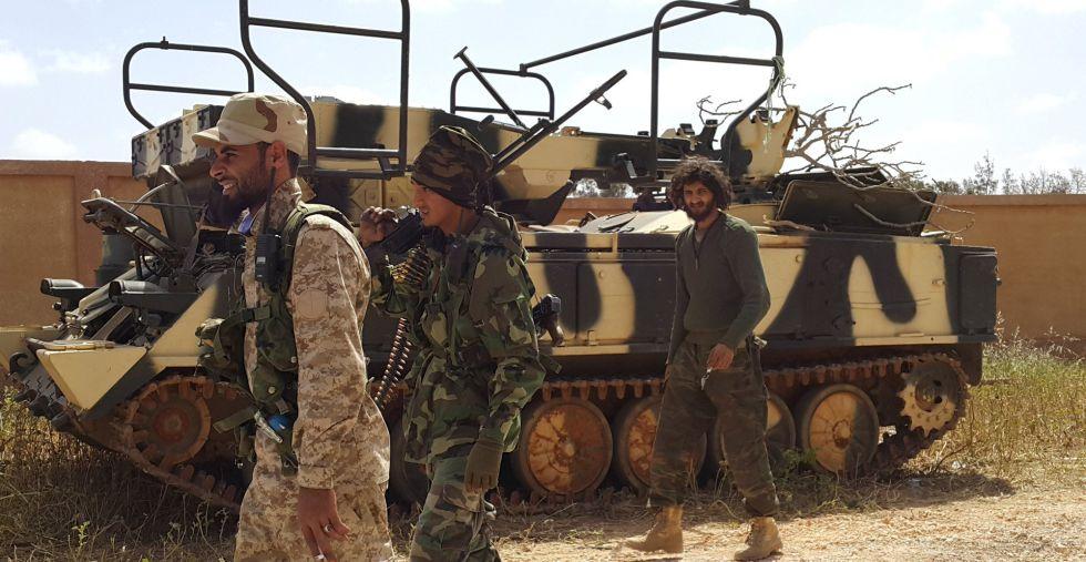 Miembros de las fuerzas libias el pasado 12 de marzo.