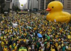 Record protests in Brazil pile pressure on President Rousseff