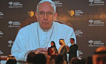 El Papa, durante su intervención en la entrega del premio.