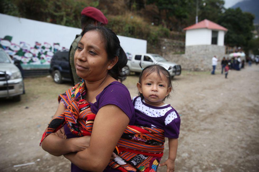 Una mujer indígena en Tzununa (Guatemala).