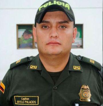El capitán de la Policía de Colombia Ányelo Palacios.