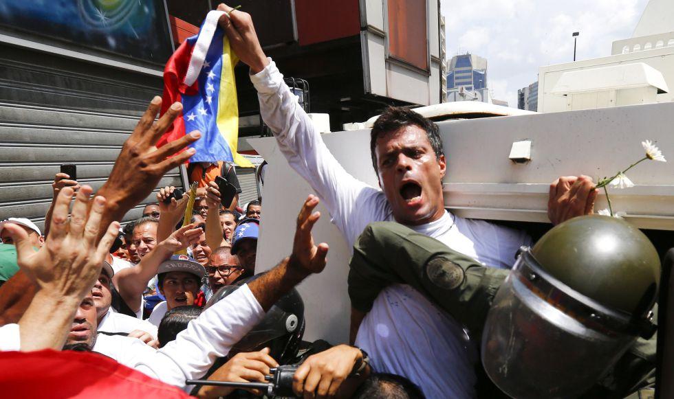 Leopoldo López, detenido en 2014.