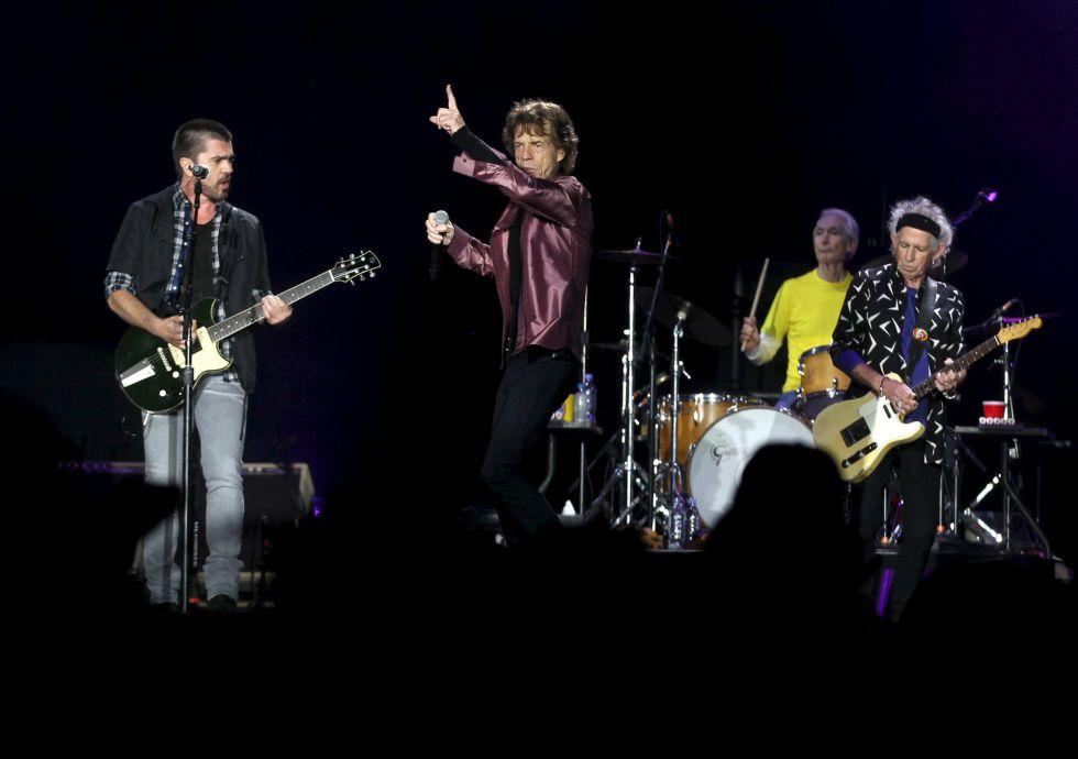 Juanes y los Rolling Stones en concierto