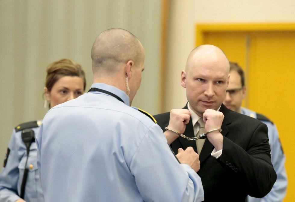 Anders Behring Breivik, este miércoles en el juzgado en Skien (Noruega).
