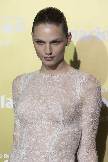 La modelo Andreja Pejic, en un acto de Marie Claire en Madrid, el 19 de noviembre de 2015.