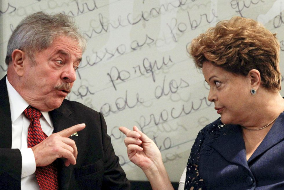 La presidenta brasileña, Dilma Rousseff, y el expresidente Lula da Silva.