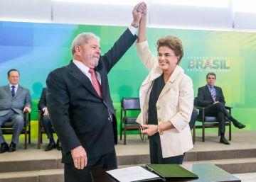 """Rousseff, a Lula: """"Usa este papel solo si lo necesitas. Es el acta [de ministro]"""""""
