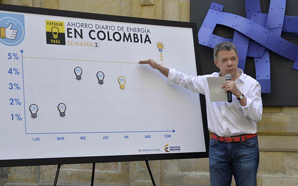 En el reporte diario de ahorro de energía, el presidente Juan Manuel Santos pide un mayor esfuerzo para alcanzar la meta.