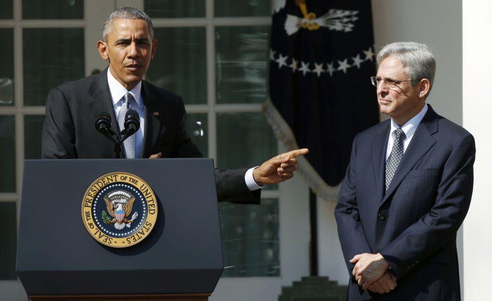 El presidente Barack Obama y el juez Merrick Garland.