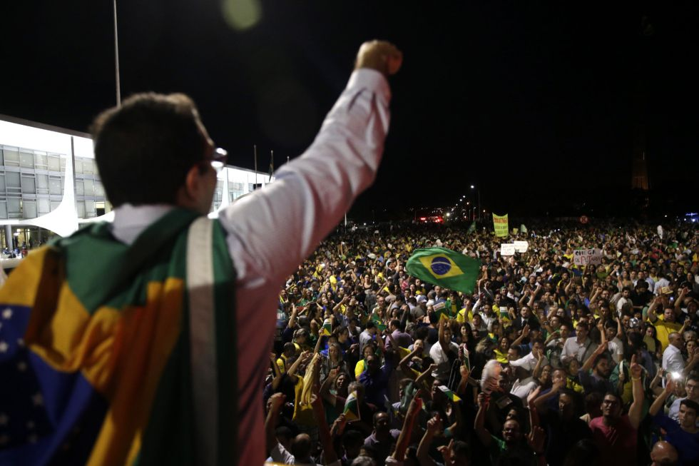 Concentración en Brasilia.