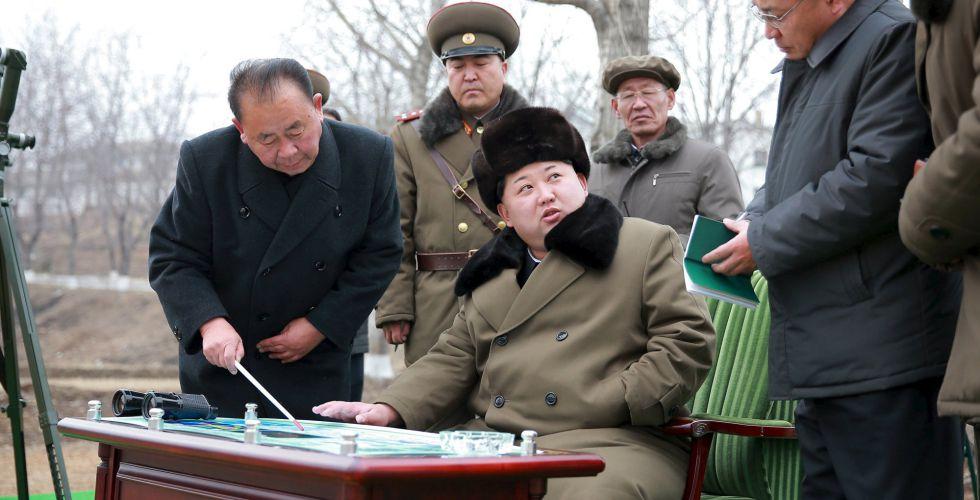 El líder de Corea del Norte, Kim Jong-un, en una imagen difundida por la agencia KCNA.