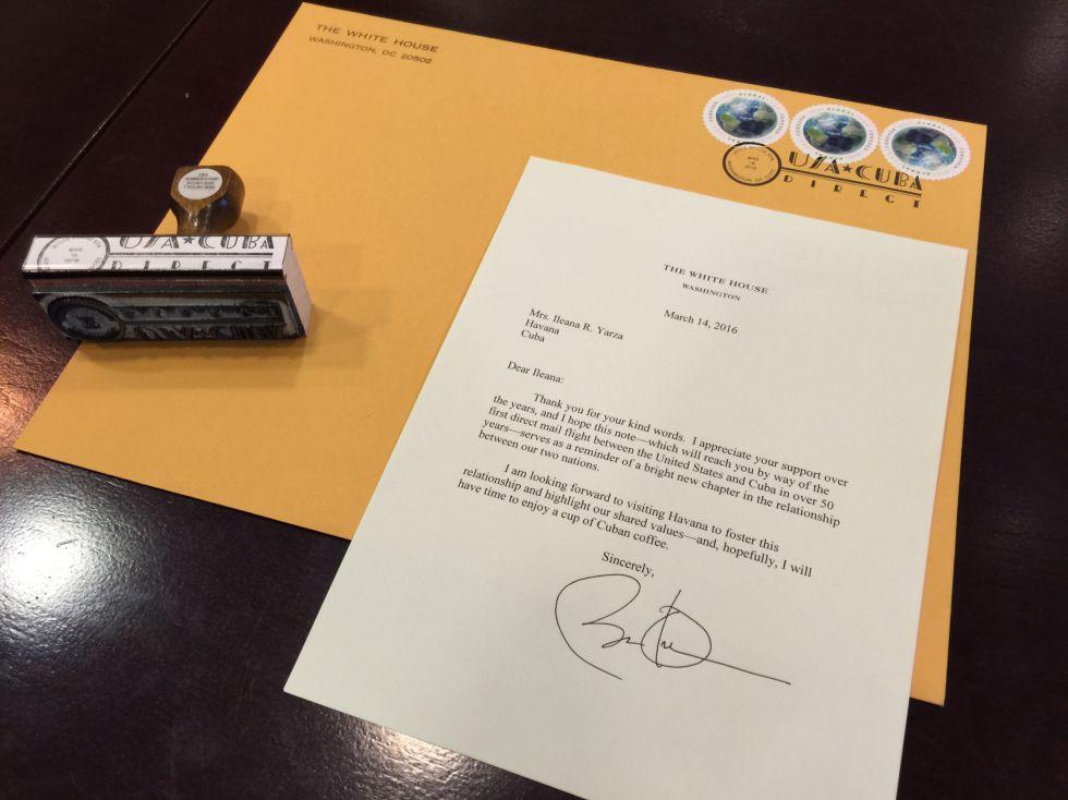 La carta de Obama