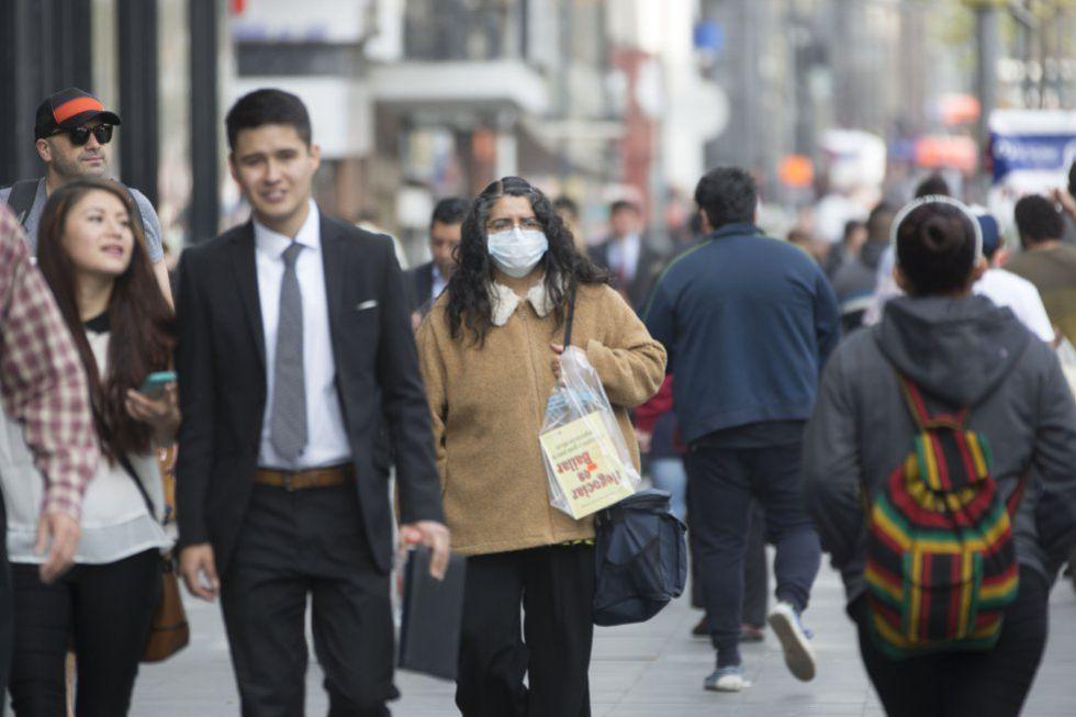 La Ciudad de México envuelta en una capa de contaminación.