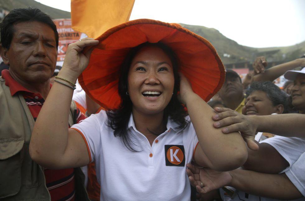 La candidata presidencial Keiko Fujimori.
