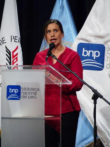 Verónika Mendoza, candidata del Frente Amplio peruano.