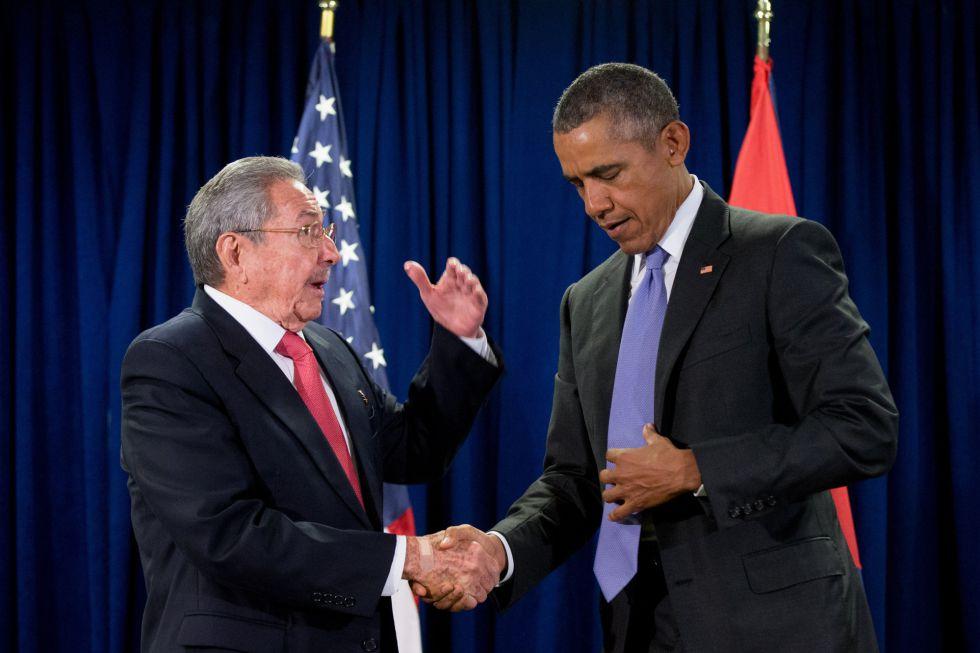 Raul Castro y Barack Obama, en un encuentro en septiembre de 2015.