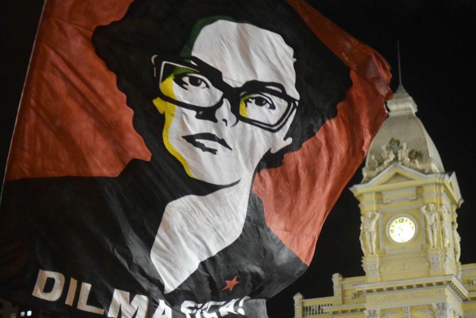 Imagen de archivo de una manifestación en apoyo de la presidenta Dilma Rousseff.