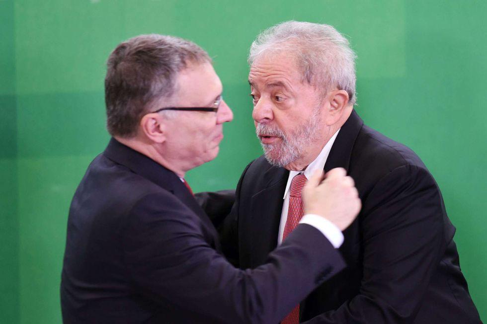 Luiz Inacio Lula da Silva en la toma de posesión como ministro.