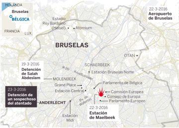 Detenido un sospechoso vinculado con los atentados de Bruselas