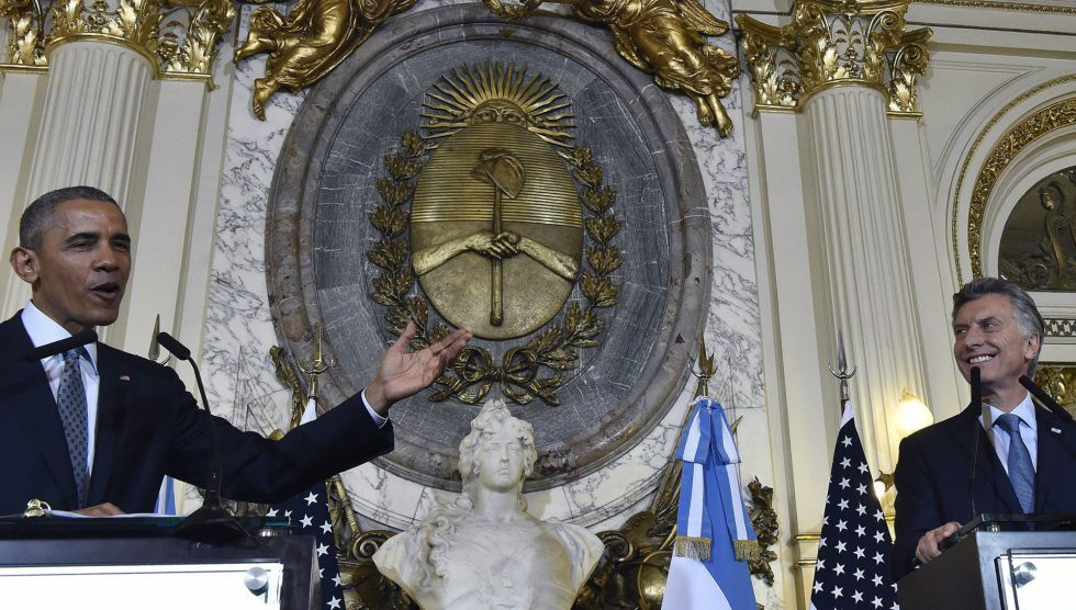 Rueda de prensa de Barack Obama y Mauricio Macri