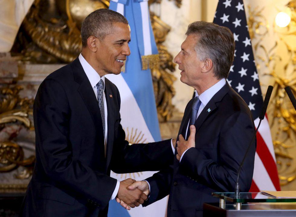 Barack Obama y Mauricio Macri en la Casa Rosada