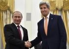Putin y Kerry evalúan en Moscú la situación de alto el fuego en Siria