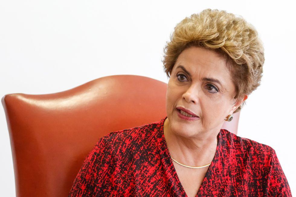 Dilma Rousseff, no encontro com correspondentes em Brasília.