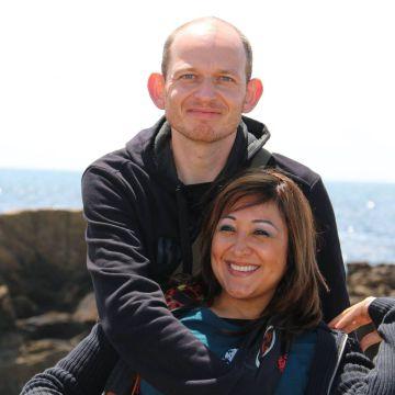 Adelma Tapia y su esposo en una foto tomada de su Facebook.