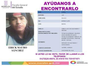 La Fiscalía de Morelos lanzó alertas para que la población apoyara en la localización de los jóvenes.