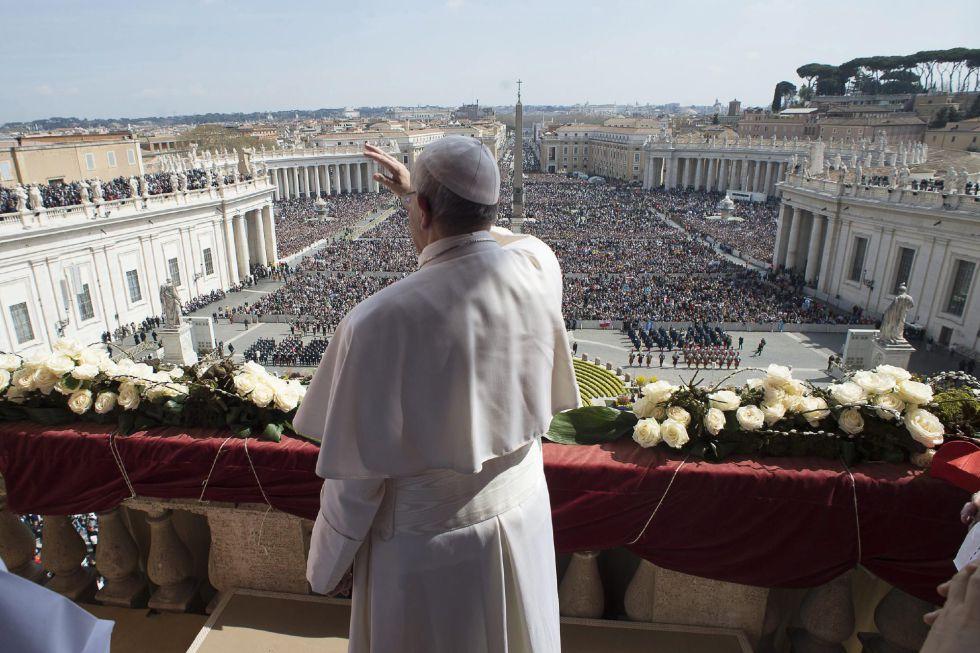 El Papa, este domingo, en el Vaticano.