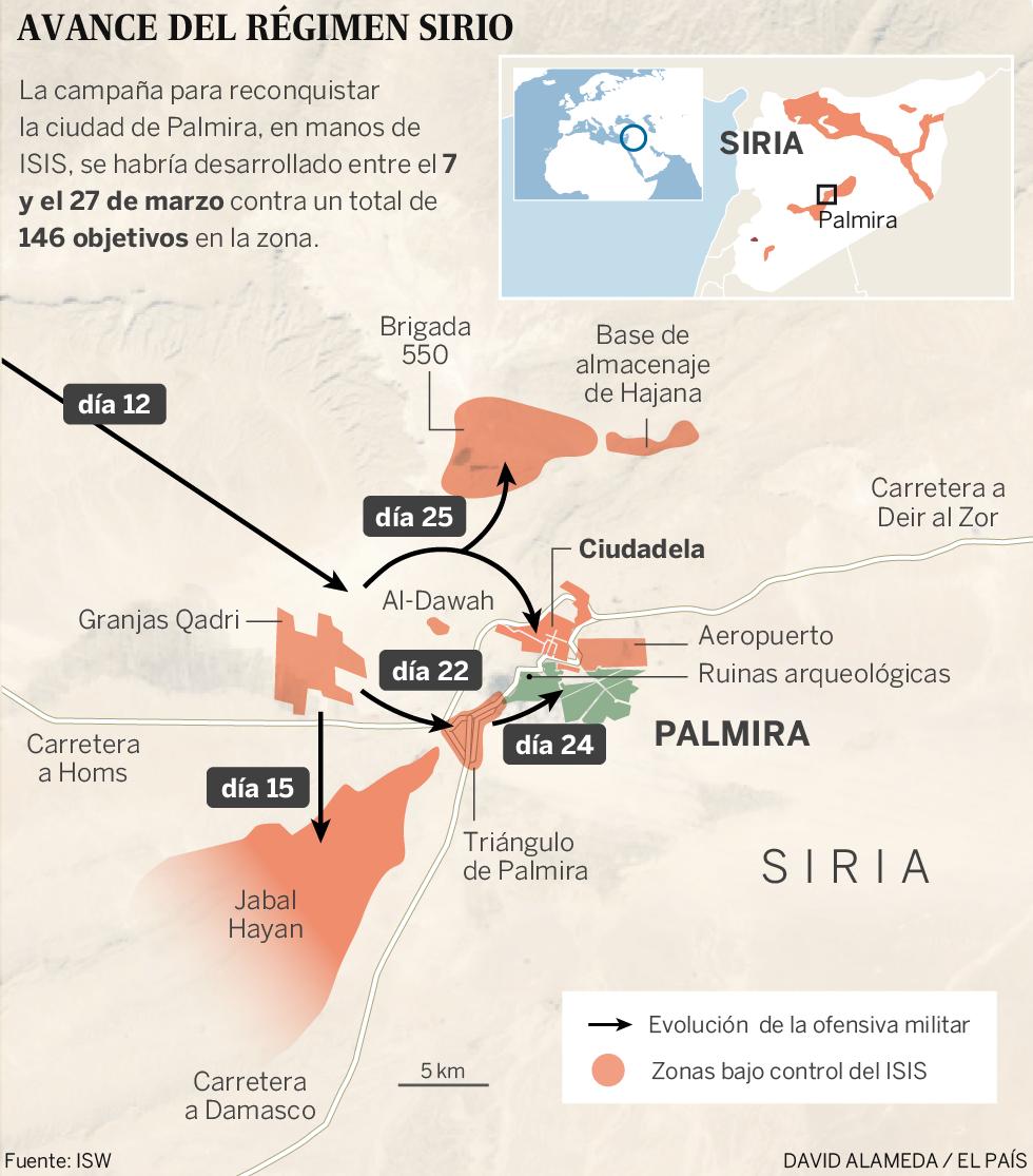 Gráfico: La toma de la ciudad siria de Palmira
