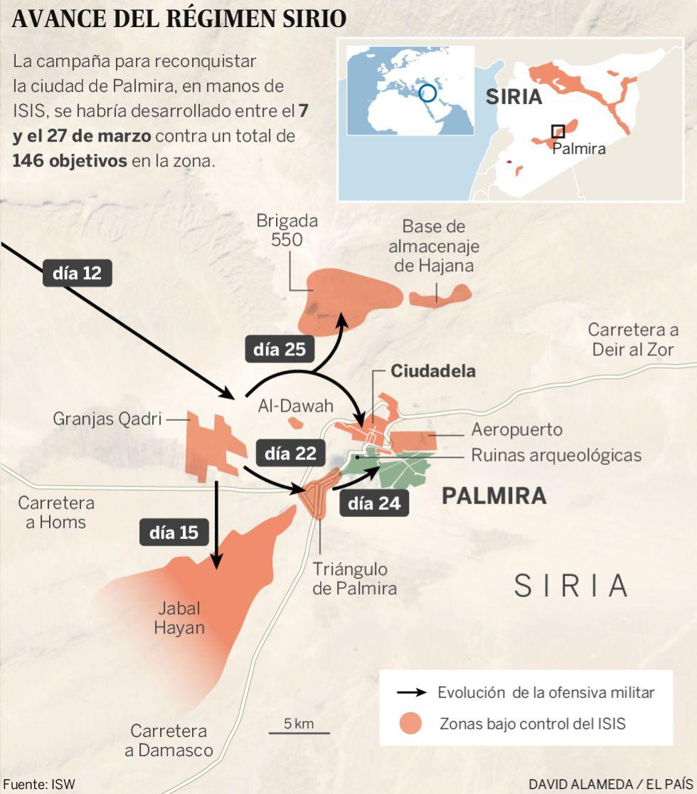 El jefe sirio de Antigüedades asegura que el 80% de la ruinas de Palmira está en buen estado