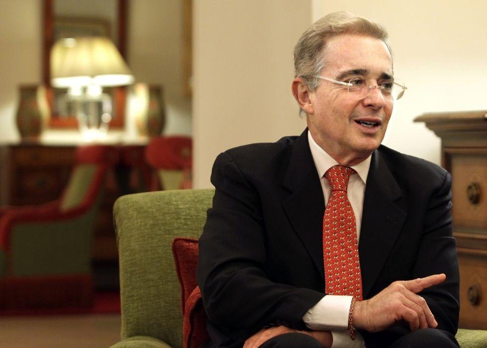 Álvaro Uribe, este martes en Madrid.