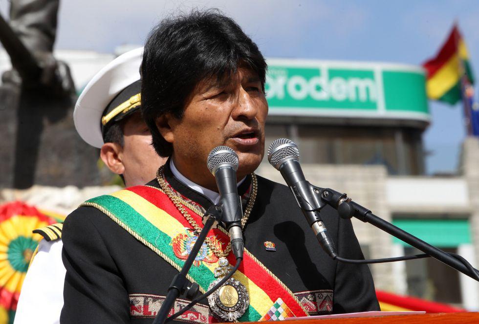 El presidente Morales, durante el Día del Mar la semana pasada.