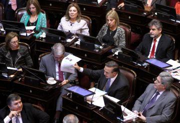 El presidente del bloque del Frente para la Victoria, Miguel Ángel Pichetto, dio libertad de acción a sus senadores