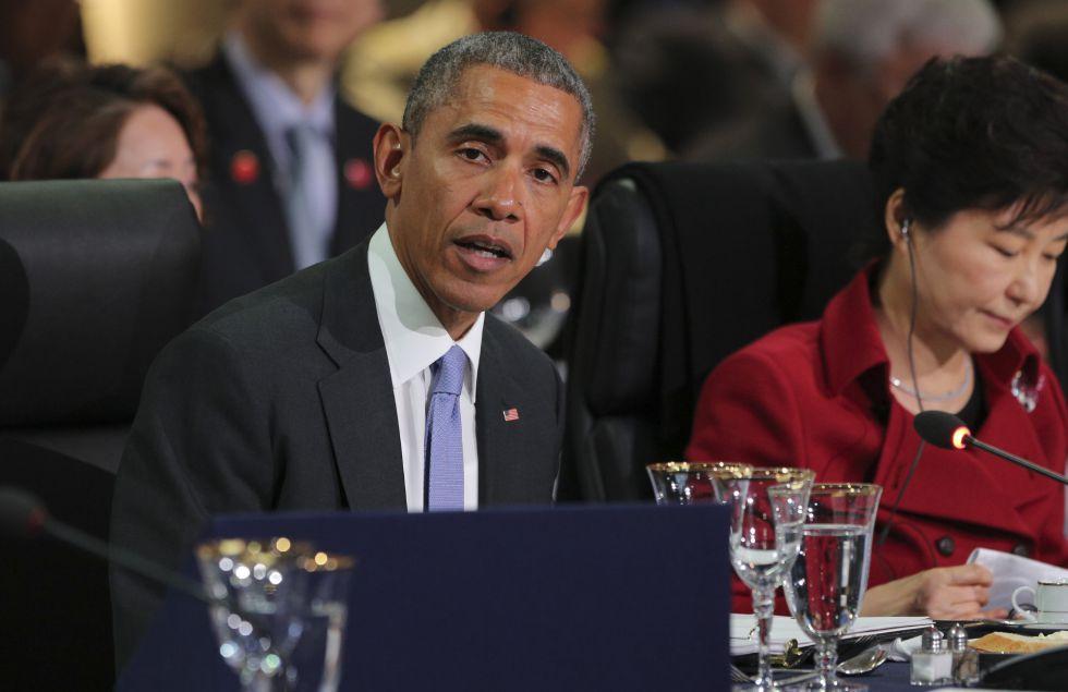 O presidente dos EUA, Barack Obama, participa da IV Cúpula de Segurança Nuclear em Washington.