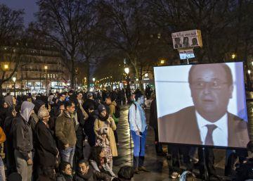 Disturbios en París tras la intervención televisiva de Hollande