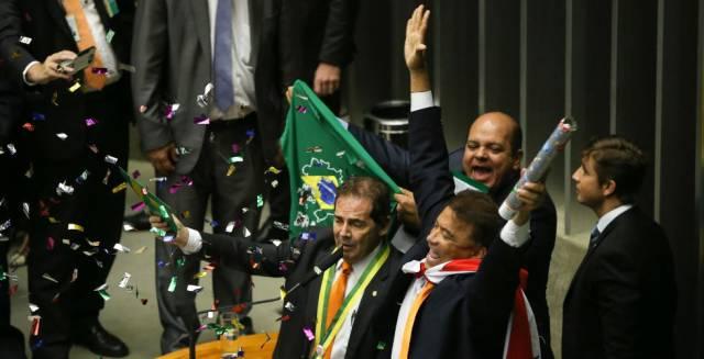 Paulinho da Força vota a favor del 'impeachment'.