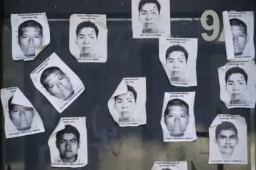 Los rostros de los estudiantes desaparecidos.