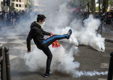 Choques y 120 detenidos en la protesta contra la reforma laboral francesa