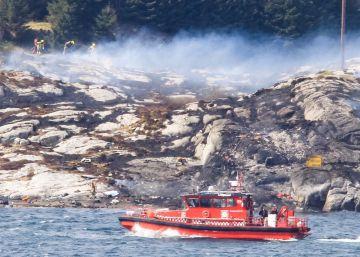 Mueren los 13 ocupantes del helicóptero que se estrelló en Noruega
