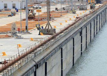 Vista general de una nueva esclusa del Canal de Panamá, en la vertiente del Pacífico.